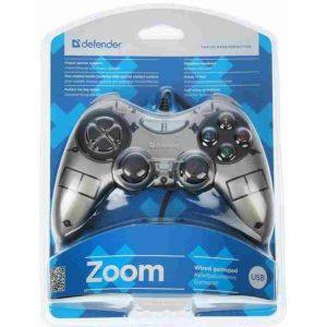 Геймпад Defender Zoom 10 кнопок 2 стика USB Black