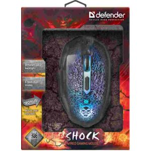 Мышь Defender Shock GM-110L LED 3200dpi игровая Black