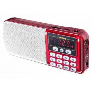 Радиоприемник  Perfeo ЕГЕРЬ FM+ 70-108МГц/ MP3 красный (i120-RED)
