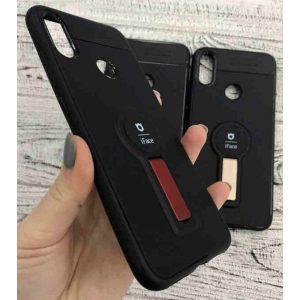 Силикон для Xiaomi Redmi Note 8 pro iFace с подставкой Black