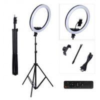 Профессиональная кольцевая лампа MakeUp Al-360mm с штатив-треногой + пульт