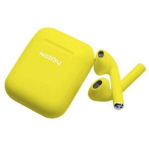 Наушники беспроводные Bluetooth Nobby Practic T-101 Yellow