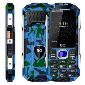 Телефон BQ-2432 Tank SE камуфляж синий