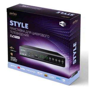Ресивер DVB-T2 Perfeo Style PF-A4414 Wi-Fi, IPTV, HDMI, 2 USB, Dolby Digital, пульт ДУ