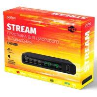 Ресивер DVB-T2 Perfeo Stream PF-A4351 Wi-Fi, IPTV, HDMI, 2 USB, Dolby Digital, пульт ДУ