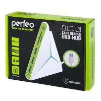 Perfeo COMBO USB-HUB 3 Port+Card Reader SD/MMC+Micro SD (PF-HYD-8029H-G)