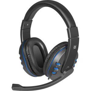 Игровая гарнитура Defender Warhead G-160 кабель 2,5 м Black-Blue
