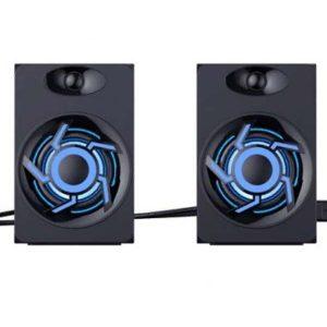 Колонки Havit SK706 2.0 6Вт RGB подсветка Black