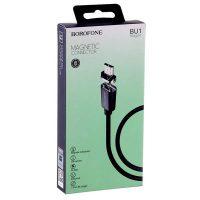 Кабель USB-micro Borofone BU1 Magjet 1,2m Magnetic Black