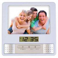Фоторамка+часы+FM Perfeo PF-S6005 Silver