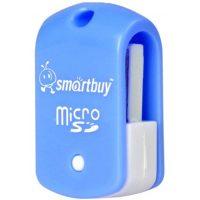 Картридер Smartbuy USB 2.0 MicroSD SBR-706-B Blue