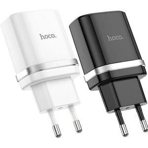 СЗУ Hoco C12 2USB 2,4A Black , White