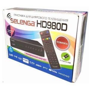 Ресивер T2 Selenga HD980D LCD 2USB Т2+DVB/C+IPTV кабель