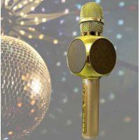 Микрофон колонка Bluetooth YS-63 Gold