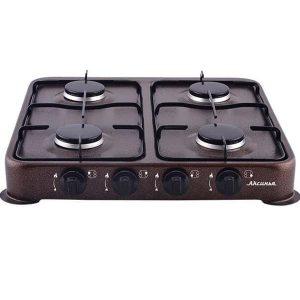 Газовая плита Аксинья КС-104, коричневый, молочный