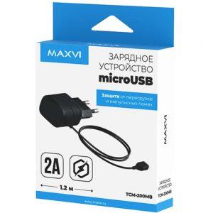 СЗУ Maxvi TCM-200MB 2A +кабель microUSB Black