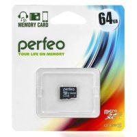Карта памяти microSD 64Gb (10) Perfeo (PF64GMCSX10U1)