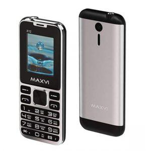 Телефон Maxvi X12 Metallic Silver