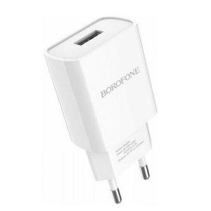 Сетевая зарядка Borofone BA20A  White / Black