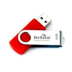 USB флеш 8 Gb DeTech ротатор метал