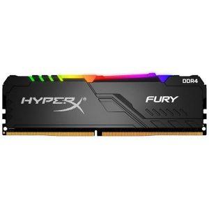 Оперативная память DDR4 16Гб Kingston HyperX FURY Black RGB (HX424C15FB3A/16)