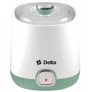 Йогуртница DELTA DL-8400 белая/серо-зеленая