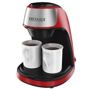 Кофеварка DELTA LUX DE-2002 красная