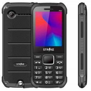"Телефон Strike P20 2.4"" Bl,Fm,2Sim,фонарь,2200mAh Black"