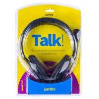 Наушники игровые Perfeo PF-TLK-BLK TALKER, кабель 2 м Black